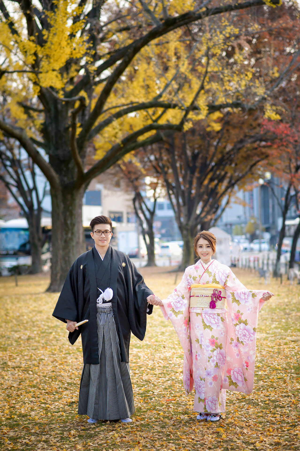 京都婚紗,和服,銀杏和服
