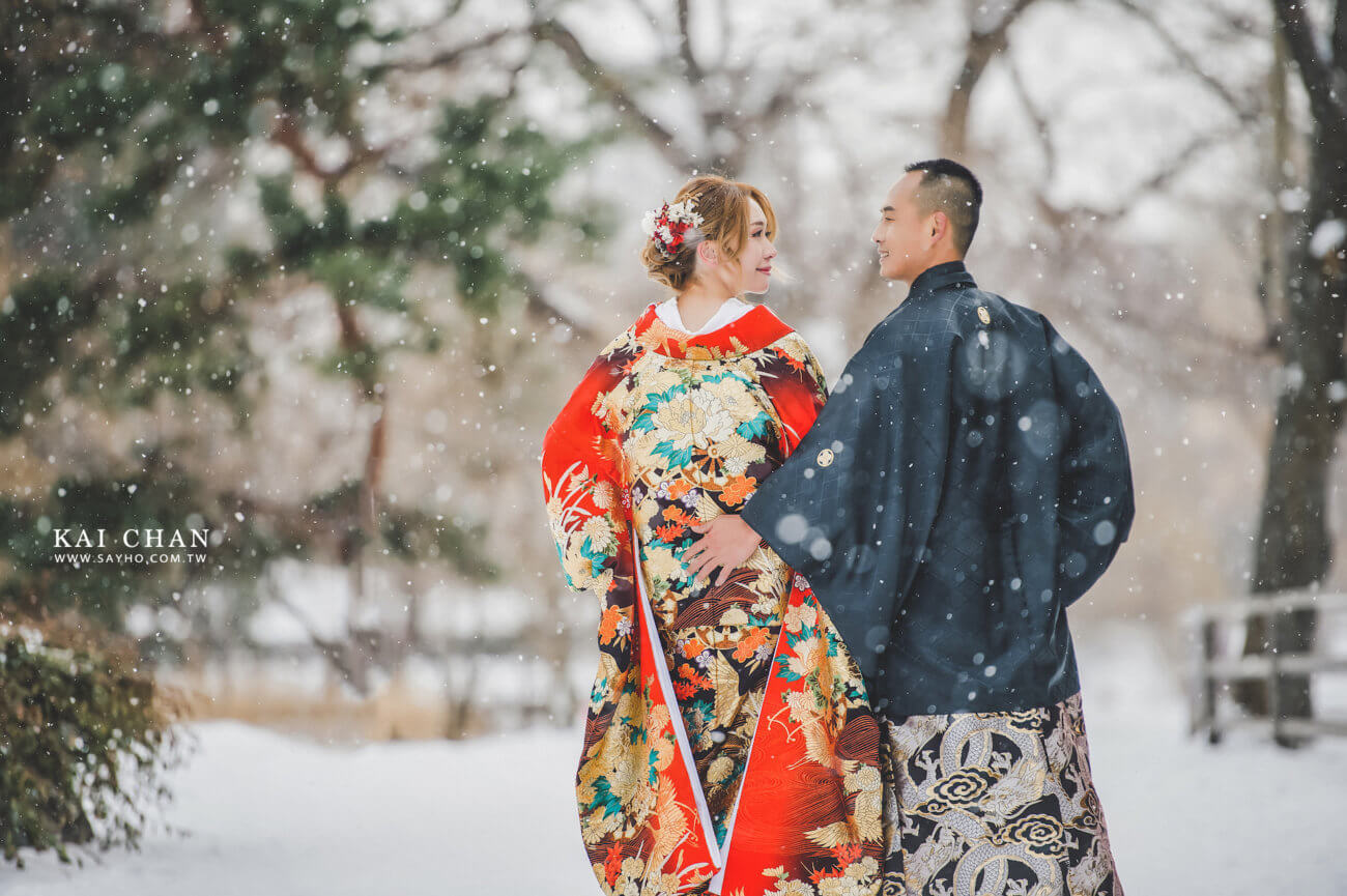 北海道色打掛,北海道婚紗