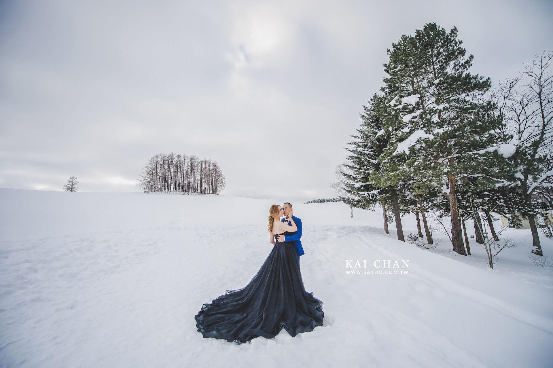 北海道拍婚紗,美瑛婚紗,雪景婚紗