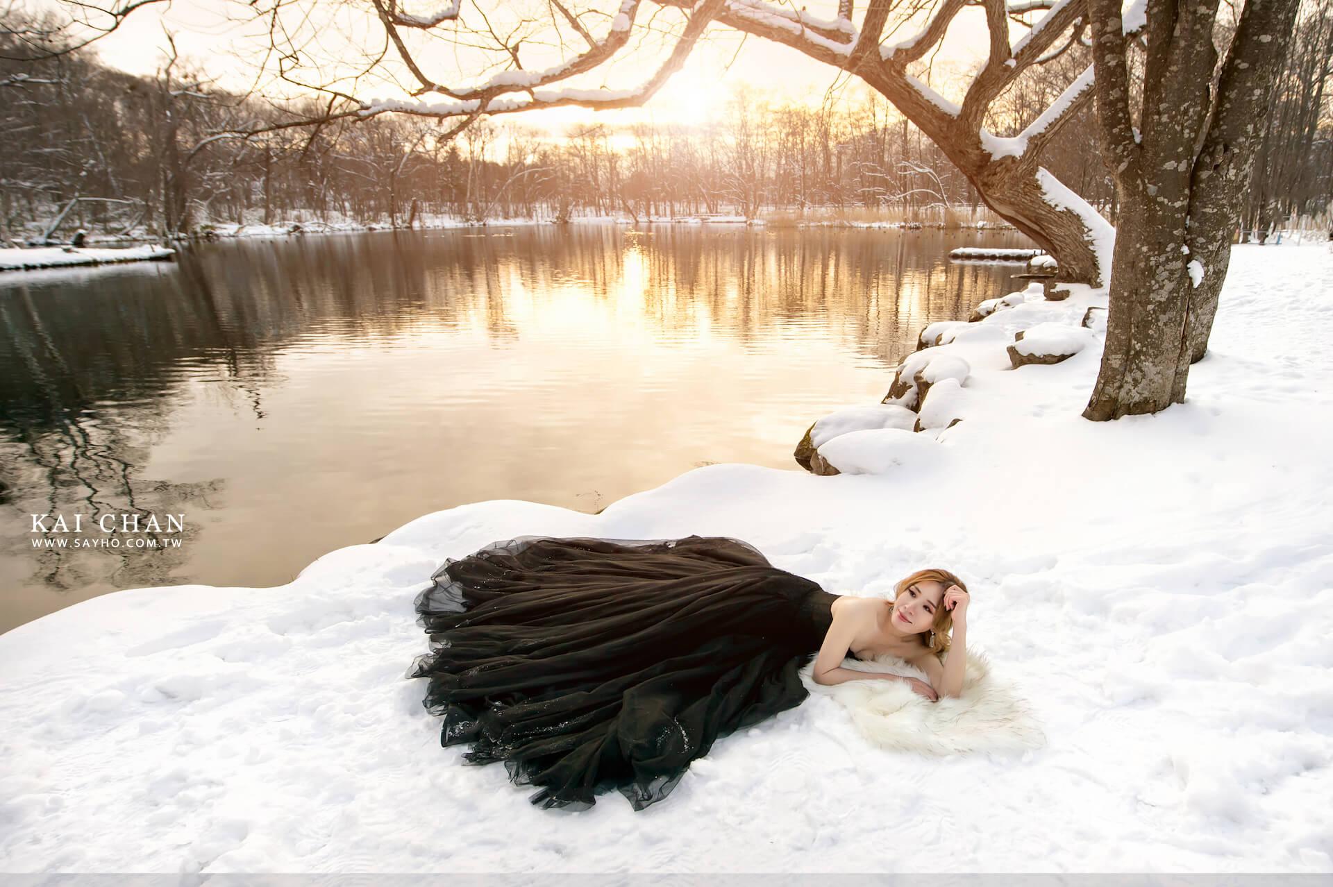 北海道拍婚紗,富良野景點,雪景婚紗