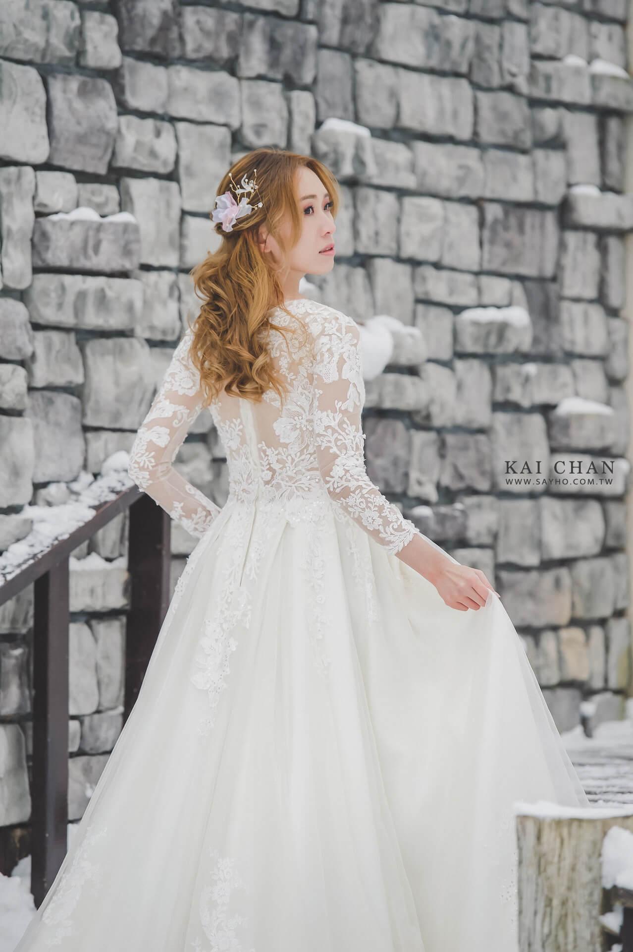 北海道拍婚紗,緩慢民宿,雪景婚紗