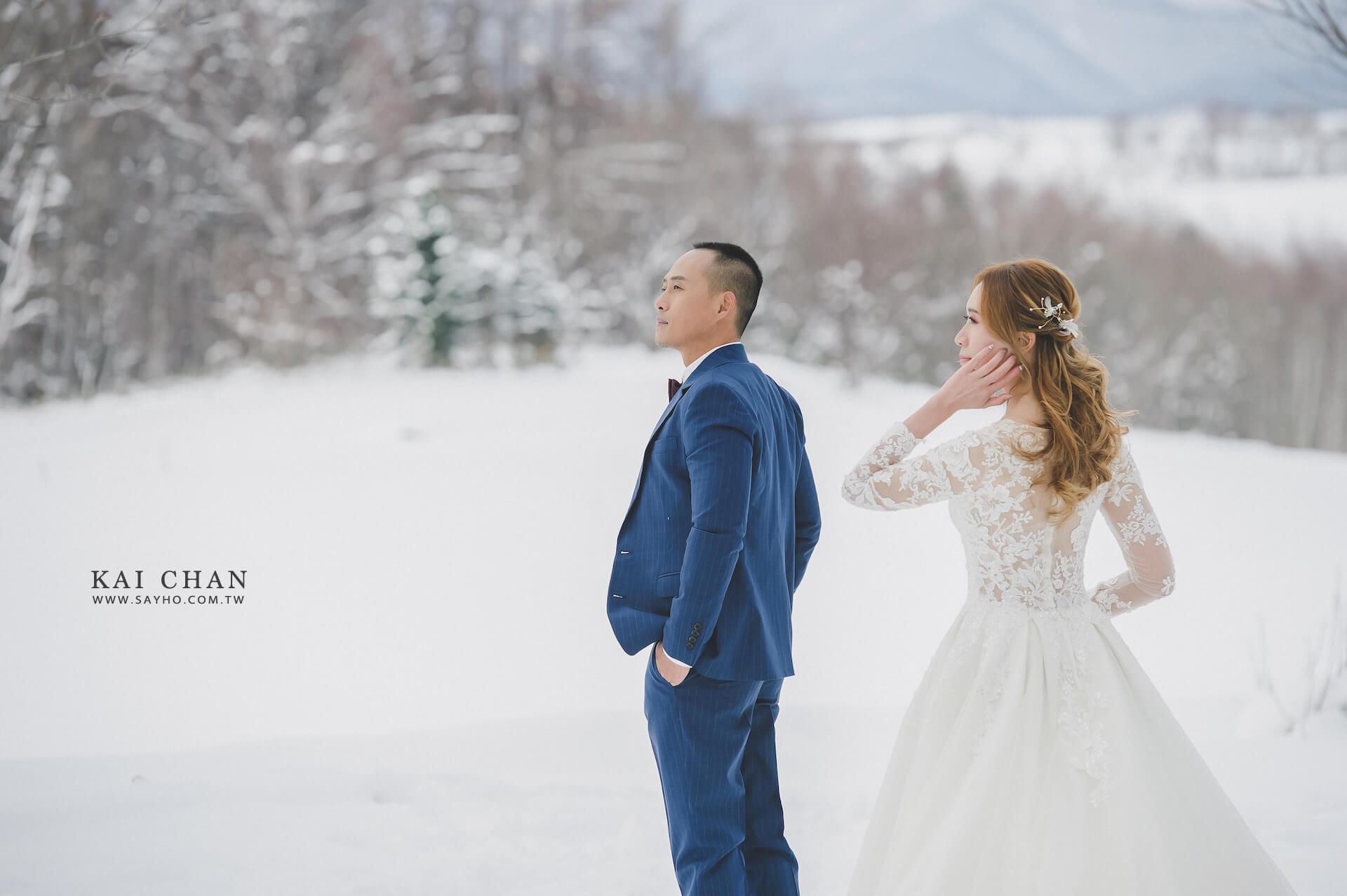 北海道拍婚紗,北海道婚紗,雪景婚紗