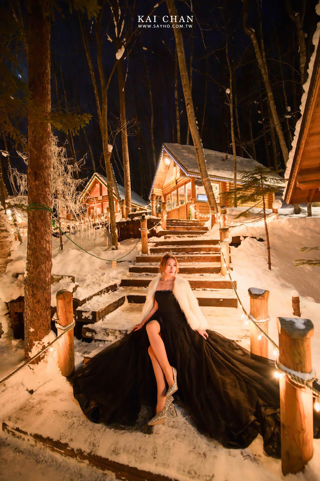 森之精靈露台,北海道婚紗,雪景婚紗