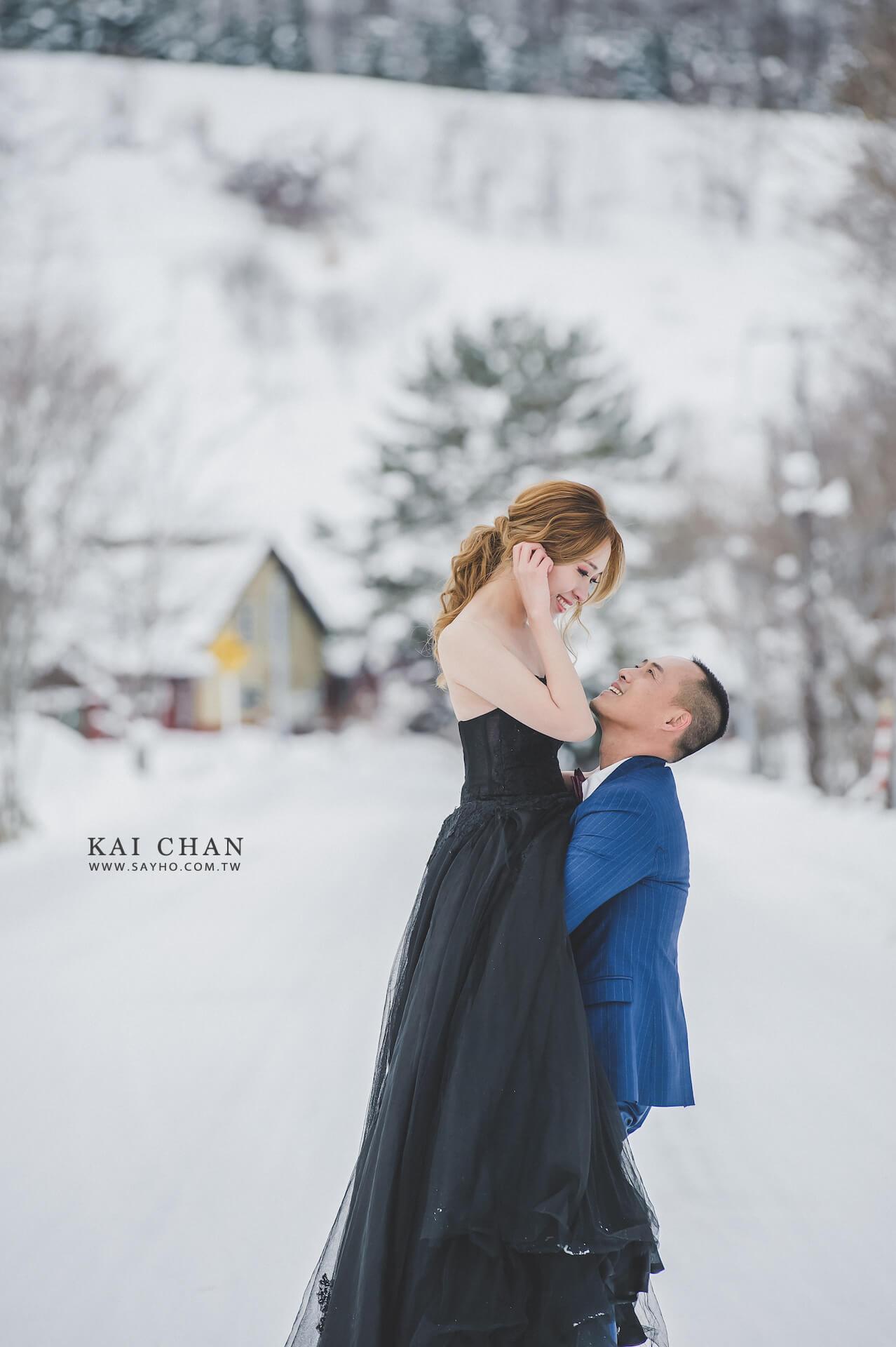 美瑛婚紗,北海道婚紗,雪景婚紗