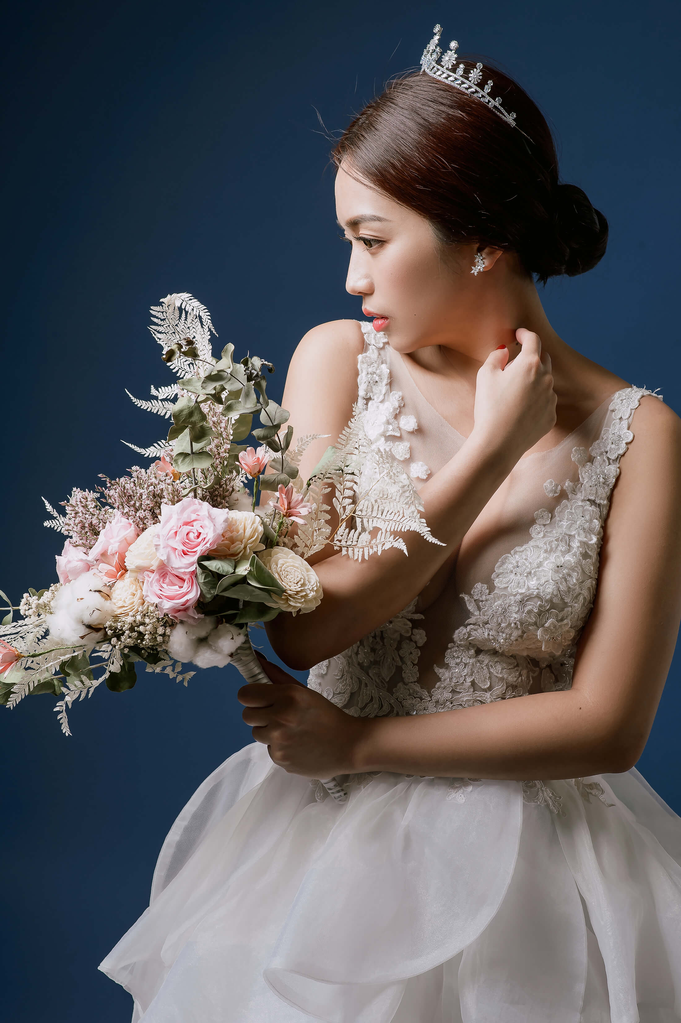 素背景婚紗